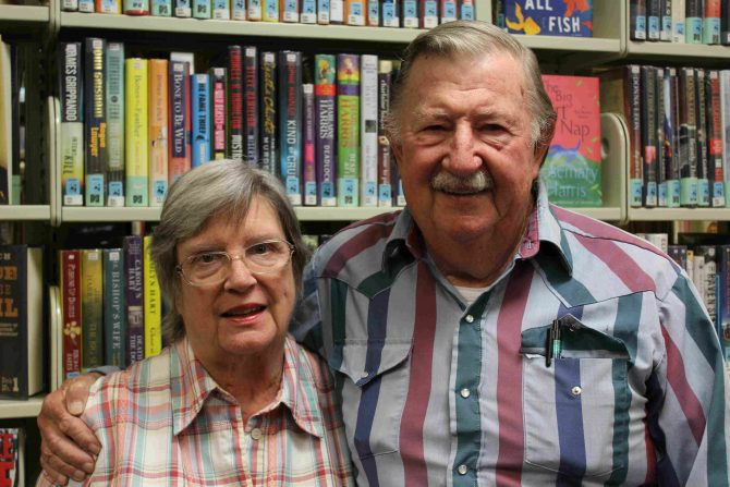 """""""Johnny Mac"""" Chinn and his wife Harriet at Headquarters Branch"""