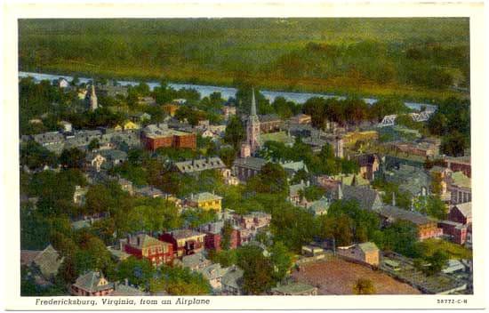 Fredericksburg, Virginia, from an Airplane